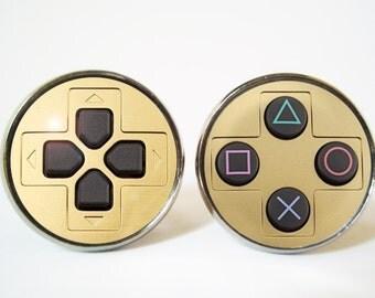 Playstation Controller Cufflinks ( Silver / Bronze / Black metal)