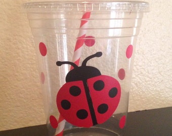 Lady bug party cups