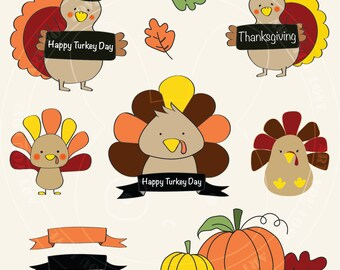 Turkey Clipart - Thanksgiving
