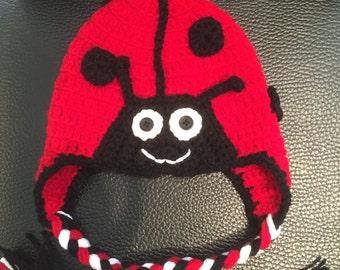 Crochet Ladybug Hat