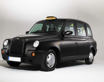 London Black Cab printed on Glossy Photo Card. *** Free Delivery ***