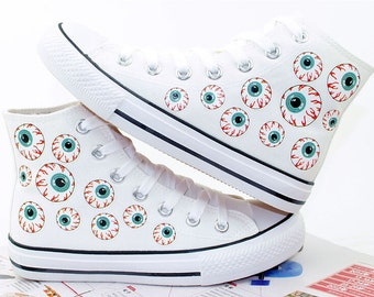 Japanese Anime Cartoon Flat Canvas Shoes Hand Painted Shoes
