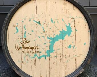 Lake Wallenpaupack, PA Map Barrel End