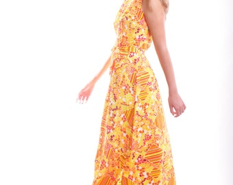 FREE US SHIPPING Flaming Vintage Maxi Dress