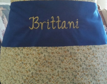 Embroidered/Monogrammed Half Apron with pockets