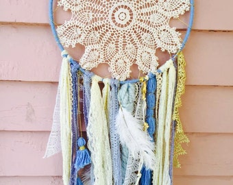 Blue Skies Dream Catcher