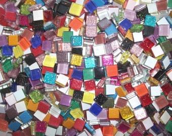 Mini Crystal Tiles 10x10mm - Rainbow mix 400pc