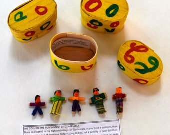 Quita Penas | Mayan Legend Dolls | Guatemala Worry Dolls | Miniature Dolls and Art Supplies