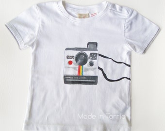Polaroid t-shirt, hand painted