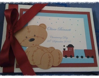 Handmade My Little Bear Christening Guest Book