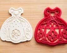Cookie cutters. Sofia the First сookie cutters. Princess's dress. Wedding dress. Dress sweet. Dress fondant. Disney Princess. Cupcake Topper