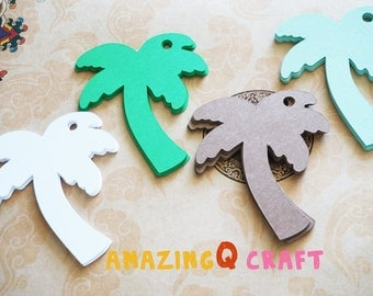 Palm Tree Paper Tags - Cardstock Paper Tags - Hang Tags - Set of 50