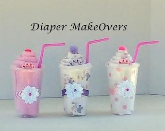 Receiving Blanket Milk Shake Gift Unique Baby Shower Gift