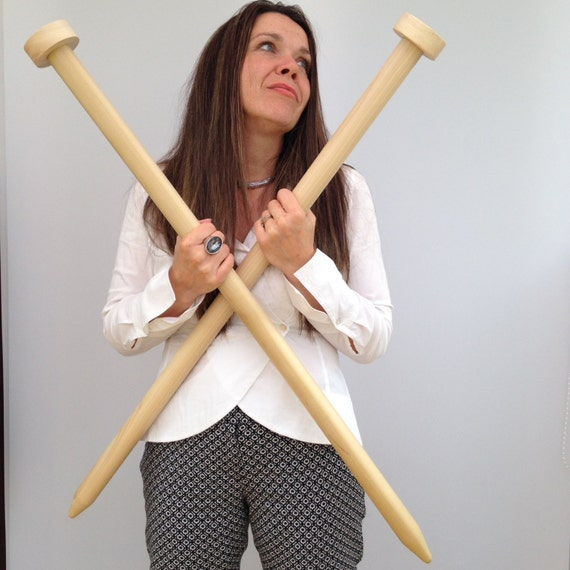 Giant Knitting Needles Uk : Giant knitting needles mm inch and by