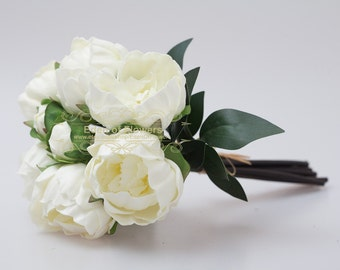 White Peony Bouquet for Wedding Bridal Bouquets Home Decoration