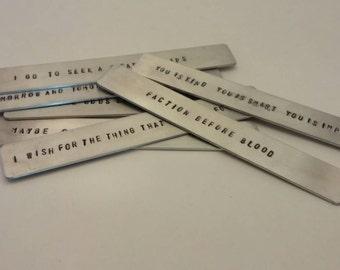 Custom Stamped Metal (Aluminum) Bookmark - Made To Order
