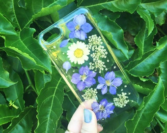 Dried Purple Flowers Phone Case