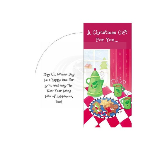 Christmas Cookies Printable Money Card Envelope Pdf Templates