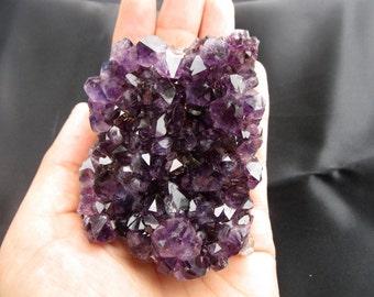 Natural amethyst geode cluster (dark purple) healing reiki energy