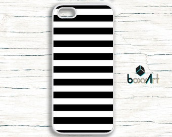 iPhone Case - Black Stripes Lines - iPhone 4/4s iPhone 5 iPhone 5c iPhone 5s iPhone 6 iPhone 6 Plus