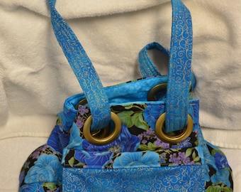 Blue Rose Shower Grommet Bag