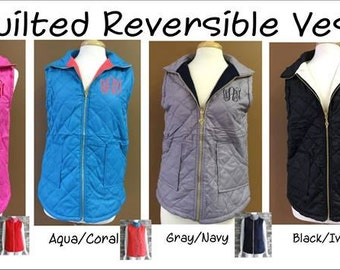 Personalized Quilted Vest - LIMITED QUANTITY