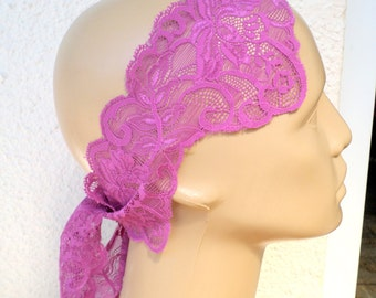 Lace Headband, Purple Headband, Lace Headband, Woman Headband, Accessories Lace Headband, headwrap, Stretchy Lacy Hair Band