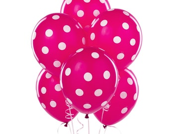 Hot Pink Polka Dot Balloons