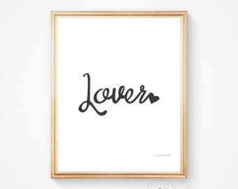 Love print, love art, love wall art, lover print, romantic wall print, bedroom print, bedroom art quote prints, wall quotes, wall art quotes