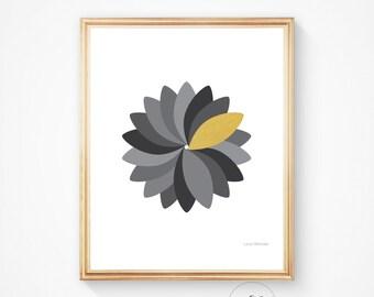 Minimalist print, Printable wall art, Black and white, Geometric decor, Mid century modern, abstract wall art, geometric, abstract art