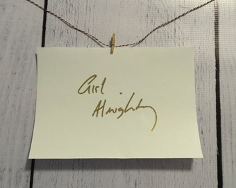 ONE DIRECTION Foil Art - Girl Almighty Louis Tomlinson's handwriting