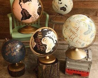 "8"" painted globe"