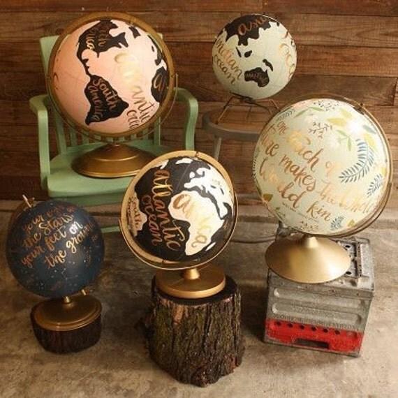 Custom calligraphied globe
