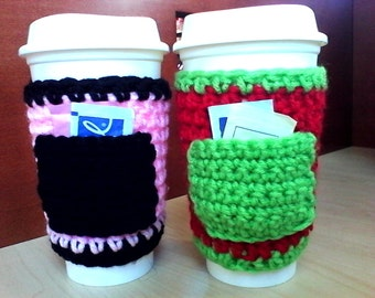 Crochet Cozy with Pockets for Hot Drinks