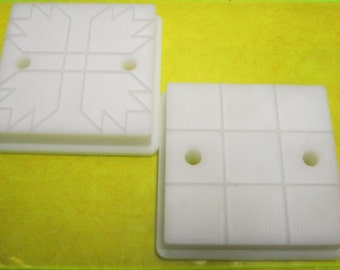 Quilt Block Square Cookie Embosser