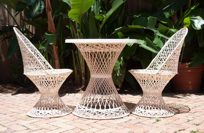 Summer Sale Russell Woodard Spun Fiberglass Patio Set