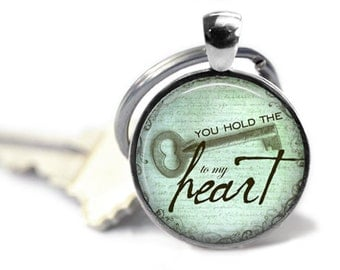 You hold the key to my heart. Gift. Comes as a necklace or keychain.