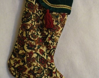 PATTERNED   ELEGANCE  Christmas Stocking