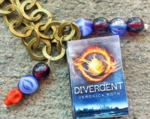 36 Inch Bronze Divergent Necklace // Working Book Charm // Veronica Roth Gift //  Divergent Necklace // Divergent Jewelry // Mother's Day