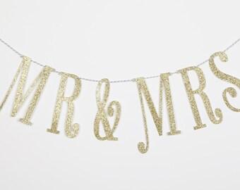 Mr. & Mrs. Banner, Wedding Banner, Wedding Decor,