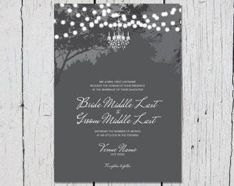 Lighted Tree Wedding Invitations