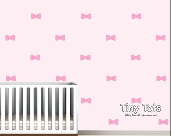 Bow Wall Decals-Vinyl Wall Decals-Girls Nursery Decals-Bow Vinyl Wall Decals-Girls Teen Decals