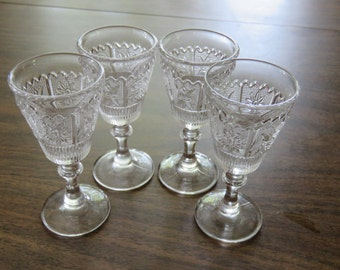 Set of 4 cordial glasses - sunflower