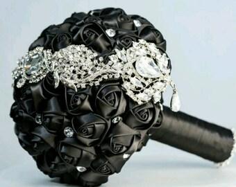 Black Beauty Brooch Bouquet