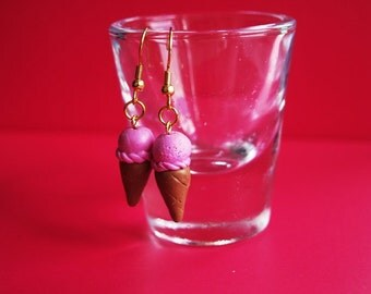 Icecream Fimo/Polymer Clay Earrings