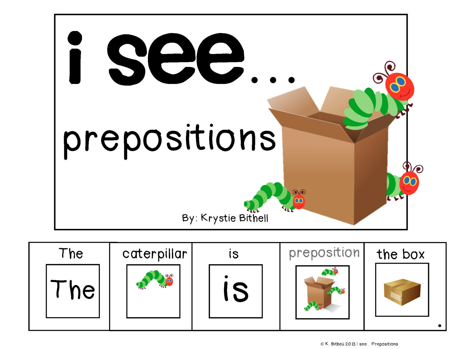 Worksheet Preposition For Kindergarten prepositions etsy adapted book for special needs autism speech