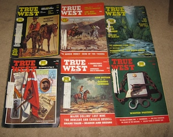 True West Magazine Assortment, 1974 And 1975, 6 Magazines. True Stories Of The West,