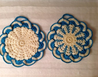 2 Crochet Potholders