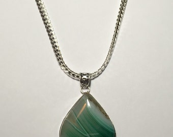 Brazilian Agate Pendant Necklace