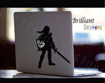 Zelda Decal, Link Decal, Zelda Macbook Decal, Link Macbook Decal, MacBook Pro, Legend of Zelda Skin, Link Skin, Zelda Sticker, Nintendo Skin